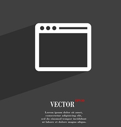 Simple browser window symbol flat modern web vector