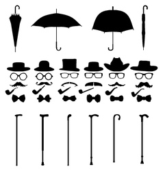 Gentleman icon set vector