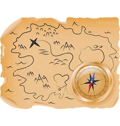 ancient treasure map vector image