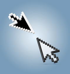 Two cursor arrows vector