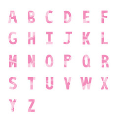 Abstract pink alphabets a to z 1 vector