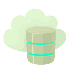 Big cloud database icon cartoon style vector