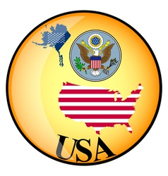 button USA vector image