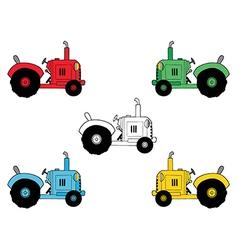 Cartoon tractors vector image