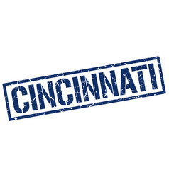 Cincinnati blue square stamp vector