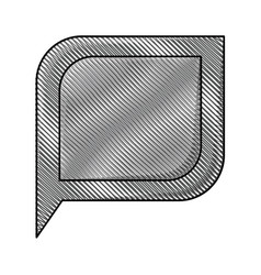 colored pencil silhouette of bubble speech vector image vector image