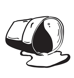 Cup spill vector