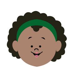 Cute profile woman character avatar female vector