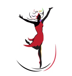 Dancing girl vector image