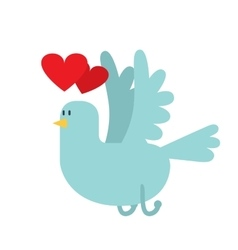 Dove with hearts icon vector image