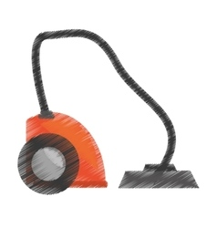Drawing modern vacuum cleaner appliance vector