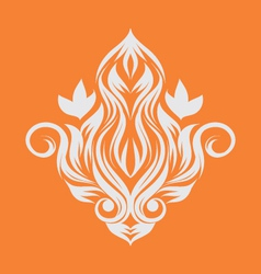 fire-ornament vector image vector image