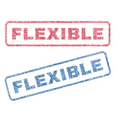 Flexible textile stamps vector