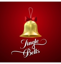 Golden christmas bell vector