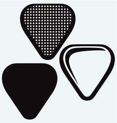 Guitar plectrum vector image vector image