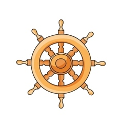 Hand drawn ship helm vector image