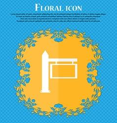 Information road sign icon sign floral flat design vector