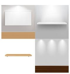 interior elements vector image vector image