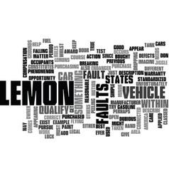 Is it a lemon text background word cloud concept vector