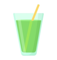 Juice in glass icon cartoon style vector image