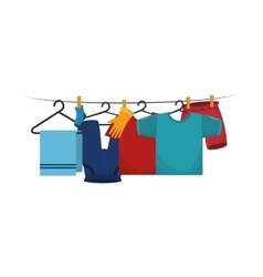 laundry service set icons vector image