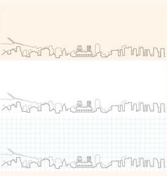 Oslo hand drawn skyline vector