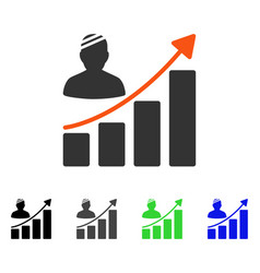 Patient bar chart flat icon vector