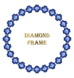 Sapphire round frame vector