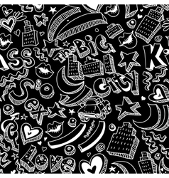 Seamless background with lips hearts vector image vector image