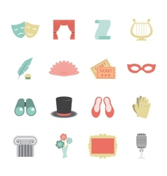 Theatre icon flat vector