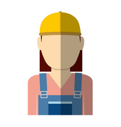 Woman with safety helmet vector