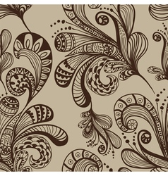seamless great floral background vector image