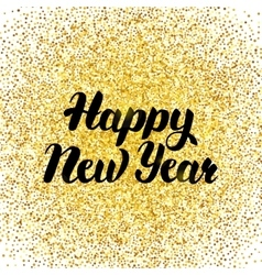 Happy new year gold poster vector