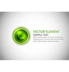 abstract center point green text vector image