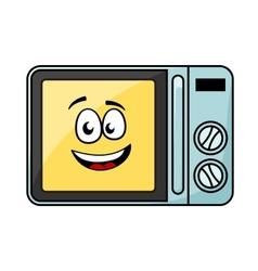 Cute cartoon microwave oven vector image