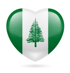 Heart icon of norfolk island vector