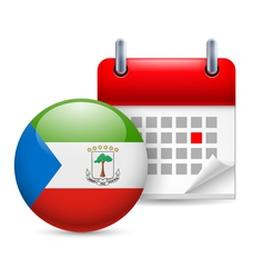 Icon of national day in equatorial guinea vector