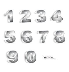 Metallic grunge 3d numbers vector