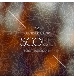 Summer scout camp background warm colors vector