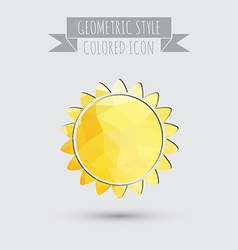Sun the weather icon vector