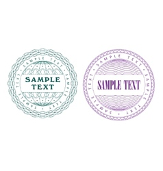 a set of guilloche seal vector image