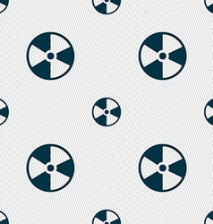 Radioactive icon sign seamless pattern with vector
