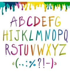 Colorful handwritten alphabet vector