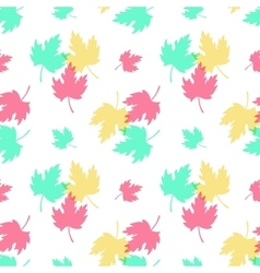 Seamless pattern with colorful leaves vector