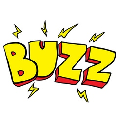 Freehand drawn cartoon buzz symbol vector