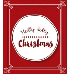 Merry christmas frame isolated icon design vector