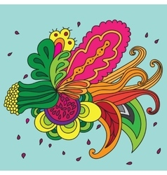 Abstract floral composition vector image vector image