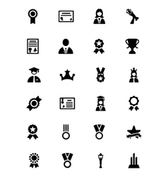 Award and medal icons 4 vector