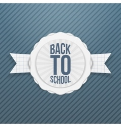 Back to school holiday tag vector