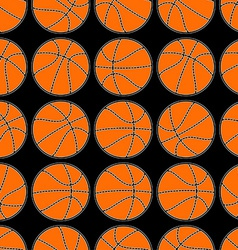 Basketball with stitching detail seamless pattern vector